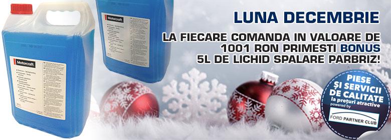 - Bonus la fiecare 1001 ron comandati primesti o solutie spalat parbriz 5 L iarna concentrat Ford original !