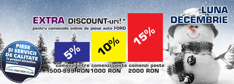 - Discount 5 % pana in 1000 ron, 10 % intre 1001 si 2000, 15 % peste 2001 ron